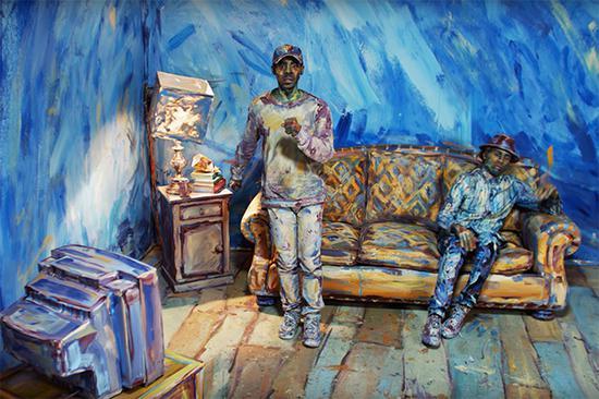 人体艺术现实将肖像世界带入电影博士爱情的电影方程式油画图片