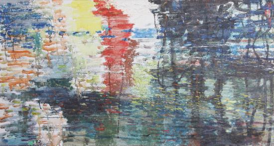 2 陈醉《未逝的颤音 》油画 1987 年48× 88cm