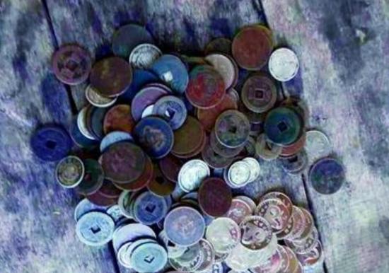陈奕贵丢失的古钱币。(陈奕贵供图)