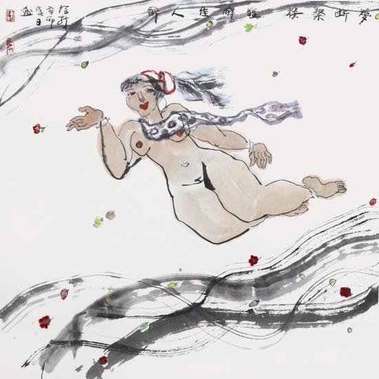 7 陈醉《梦断秦楼》 2011年 68 ×68cm