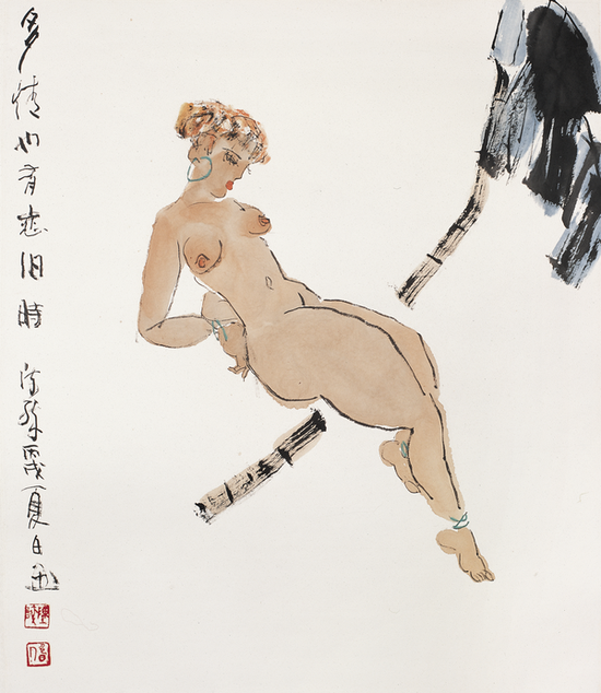 20 陈醉《多情也有恋旧时》 2006年78×68cm