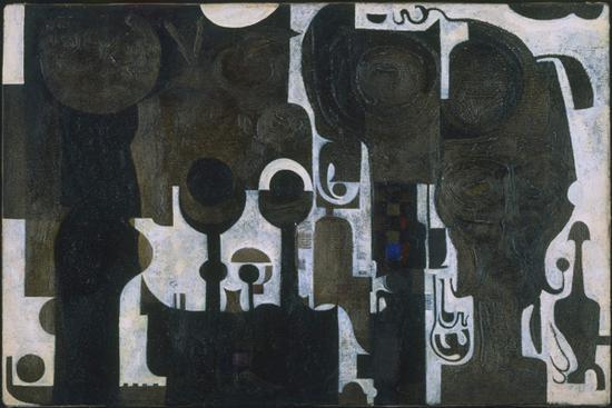 《清真寺》Ibrahim El-Salahi,1964