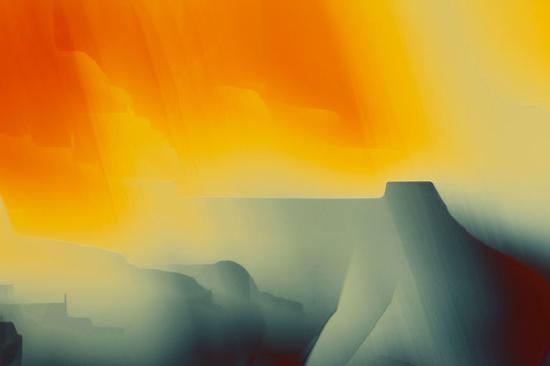显微镜下的晶体色彩梦幻 如艺术抽象画
