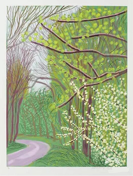 春至沃德盖特树林 iPad作画 纸上印刷 2011 (139.7 cm x 105.4 cm)