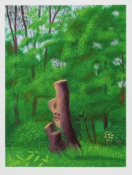 春至沃德盖特树林 iPad作画纸上印刷 2011(139.7 cm x 105.4 cm)