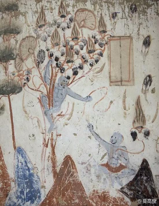 莫高窟第428窟-梵志夫妇摘花因缘-北周