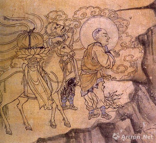 《玄奘取经图》——榆林窟第3窟(西夏) 敦煌研究院供图