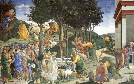 波提切利《摩西的传说》,藏于梵蒂冈博物馆