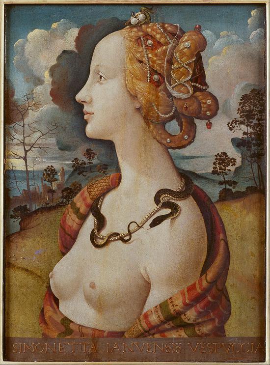 《女人的肖像》,据说是西蒙特-韦斯普奇(Simonetta Vespucci)