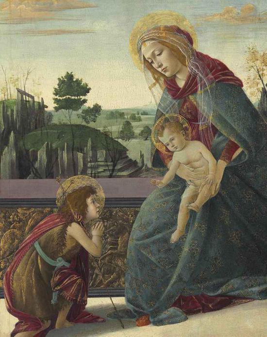纽约佳士得拍卖的波提切利《圣母子与年轻的圣约翰》