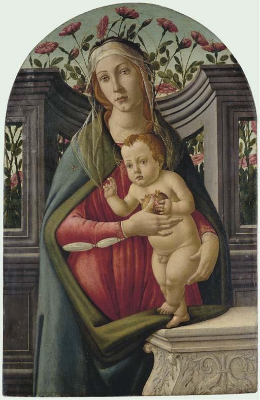 伦敦佳士得拍出的波提切利《圣母子》