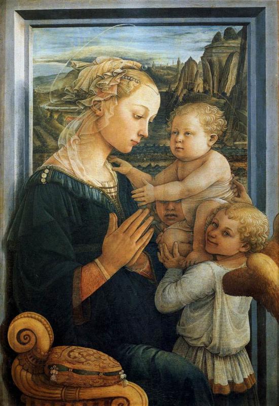 利皮《圣母子与天使》,藏于乌菲茨美术馆