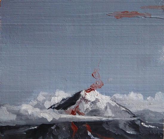 3王德磷《静默的遐想no.2》木板油画 ,2016