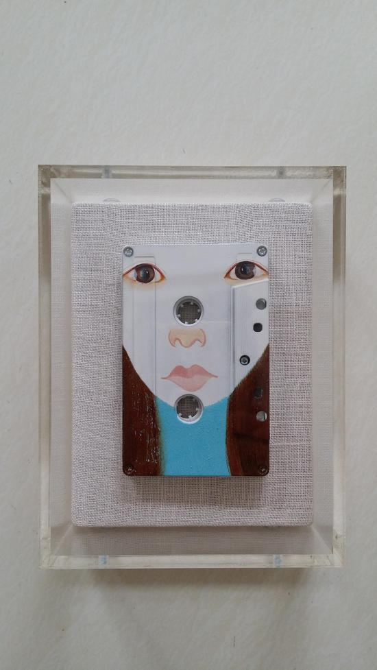 29-李建树《我的网友》磁带、油彩 2009-2016