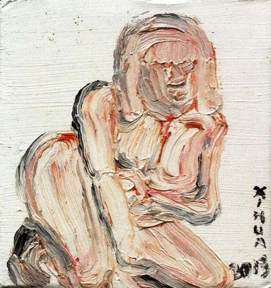 席华《秘密的盒子-1》纸盒、油彩,2013