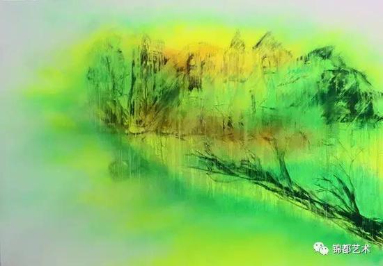 《三界》然境系列,油画,200cm×140cm,2016