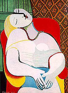 完成于1932年的《梦》是毕加索最富盛名的杰作之一