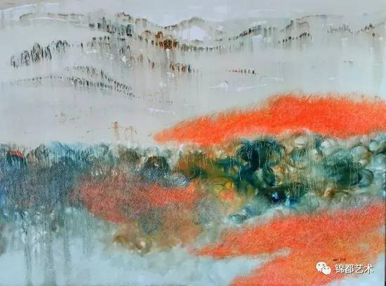《三界》敦煌圣界系列,油画,120cm×100cm,2016