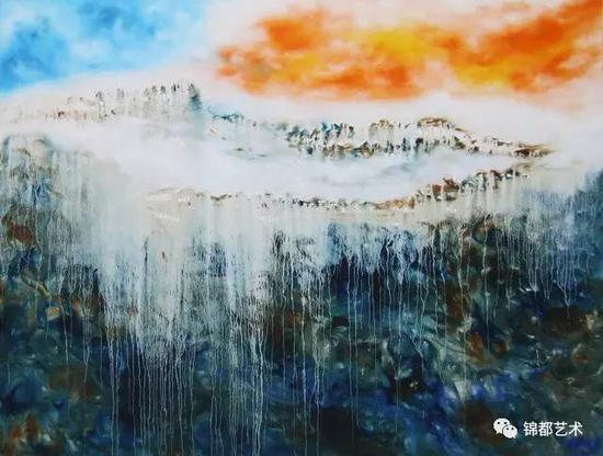 《三界》敦煌圣界系列,油画,170cm×130.5cm,2017