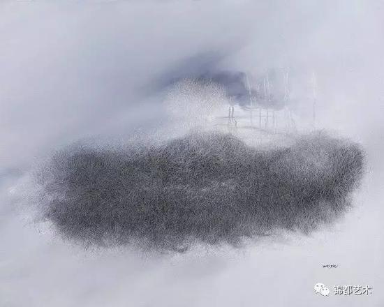 《三界》禅境系列,油画,100cm×80cm,2016
