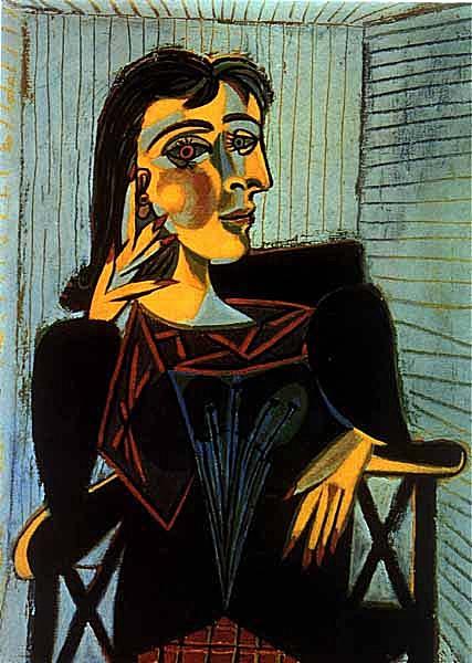 毕加索笔下的Dora Maar以深色为主,和金发的Marie-Thérèse风格完全不同