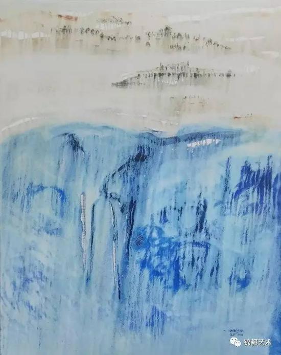 《三界》敦煌圣界系列,油画,100cm×80cm,2016