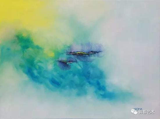 《三界》意境系列,油画,60.5cm×50.5cm,2016