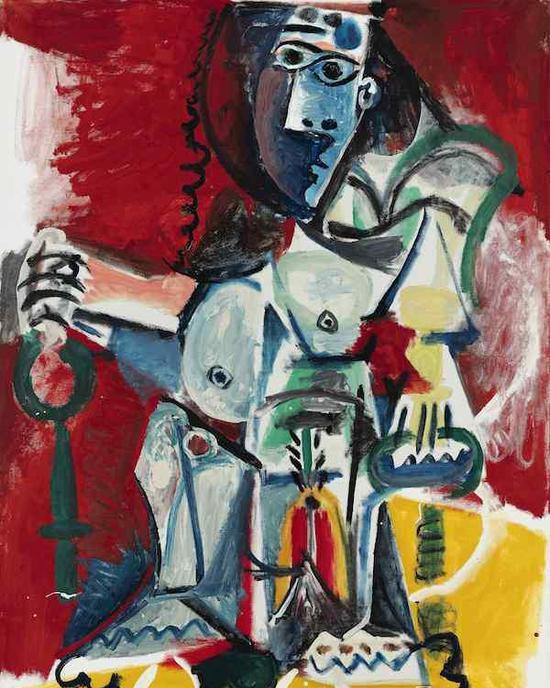 毕加索《裸女坐像》,成交价:1.2亿人民币