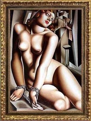 蓝碧嘉 裸女油画《Andromeda》