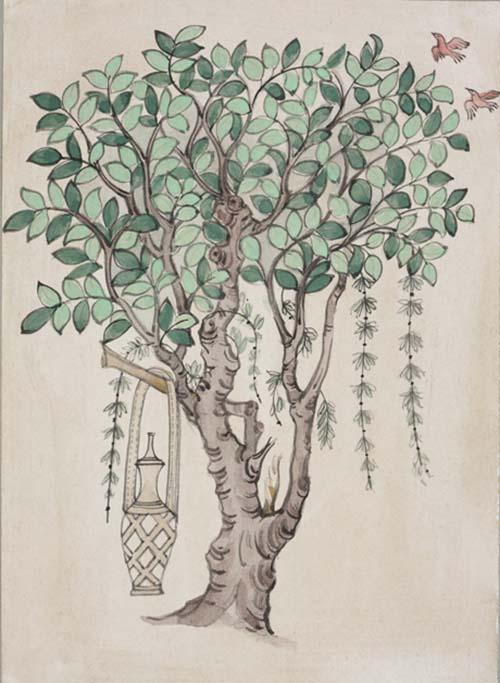 树木(晚唐17窟),常沙娜 ,19×26.5cm