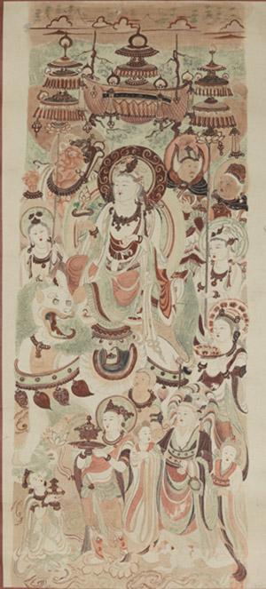 文殊变(中唐窟号不详),常沙娜 ,1945 ,108×49cm