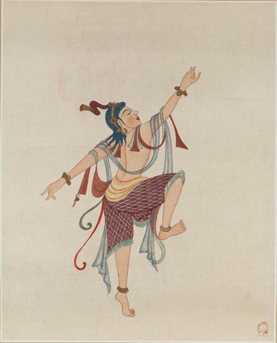舞人(初唐220窟),常沙娜,1946 ,53×38.5cm