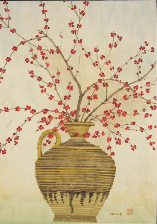 固安小红果 ,常沙娜,1998 ,65.5×46cm