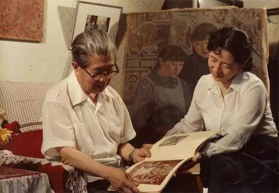1989年6月在北京父亲常书鸿家中