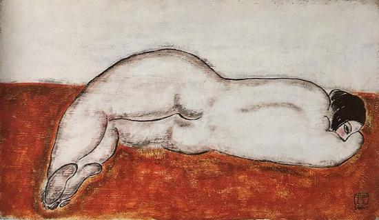常玉,侧卧裸女,1930年代