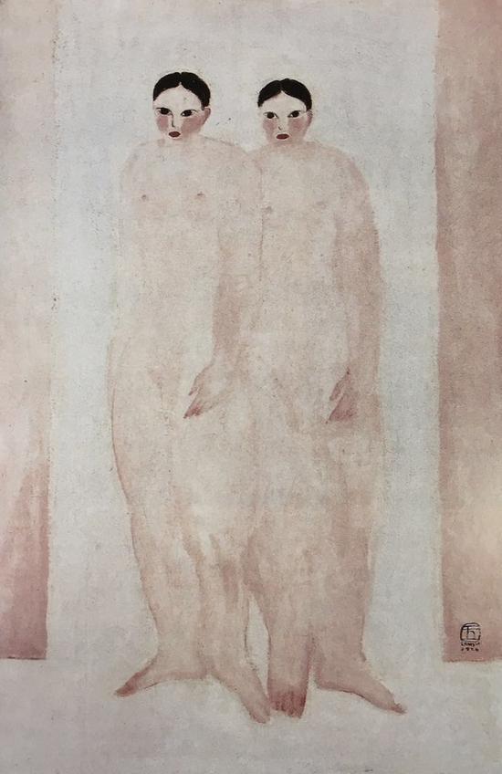 常玉,双裸女,1929