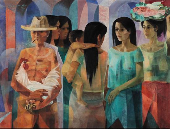 文森·席尔瓦·马南萨拉(Vicente Silva Manansala)《市集》
