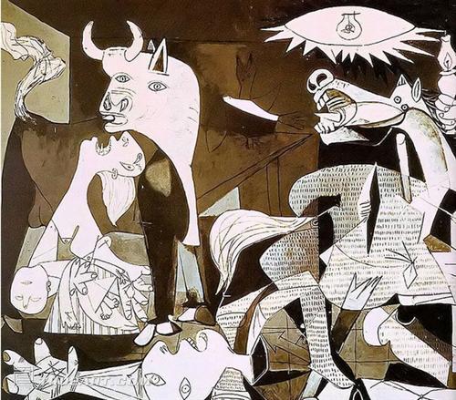 毕加索的名作《格尔尼卡》