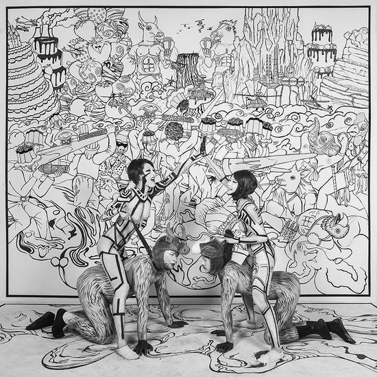 王建扬,糖果战争,收藏级无酸艺术纸、艺术微喷,75x75cm,2015,Edition of 2