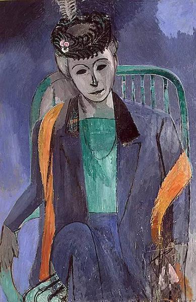 亨利·马蒂斯 Henri Matisse - Portrait of the Artist's Wife