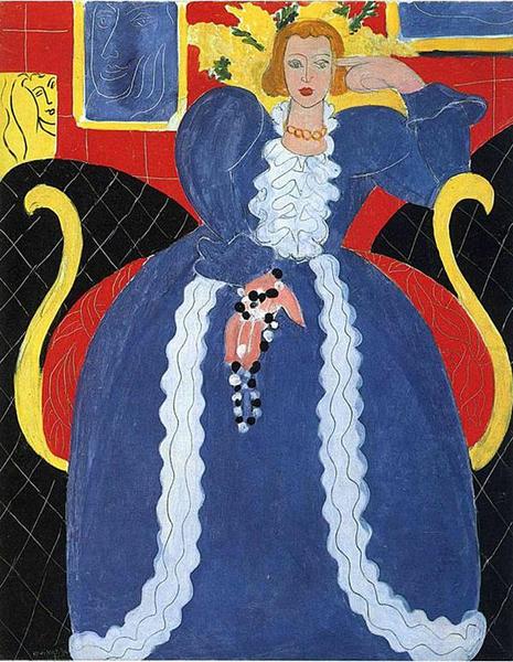 亨利·马蒂斯 Henri Matisse - 蓝衣女人