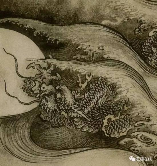 陈容《九龙图》(局部)