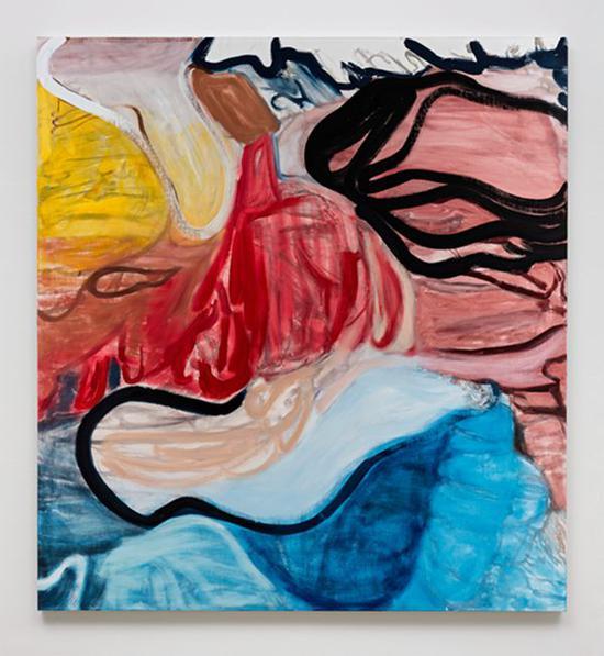 丽莲?托马斯寇 明智的红 2015 亚麻布油画 193 x 177.8 cm