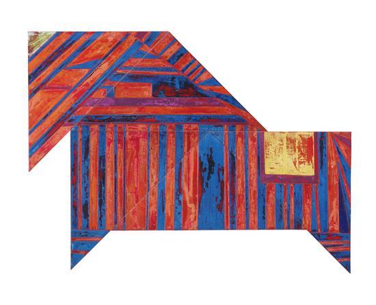 杜飞辰作品 独角兽,160x120,2016,坦培拉综合材料