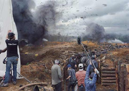 乐安梅用摄影记录了美国内战电影的拍摄现场