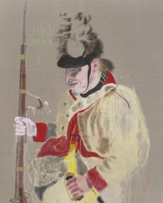 亚蔻   200x160cm   布面油画 、丙烯   2016  王玉平
