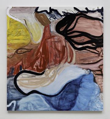 丽莲·托马斯寇    明智的红 2015  亚麻布油画   193cm x 177.8cm