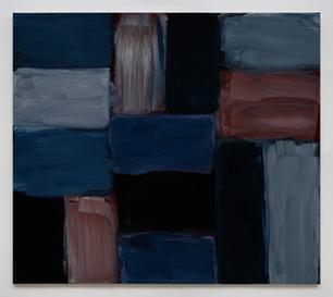 肖恩·斯库利 多里克蓝-蓝 亚麻布油画 71.1cm x 81.3 cm