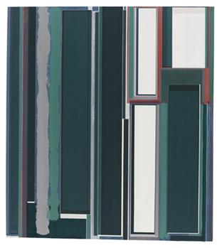 刘可 一封信总抵达它的目的地 2016-17    布面油彩、丙烯与水彩 180cm x 165cm