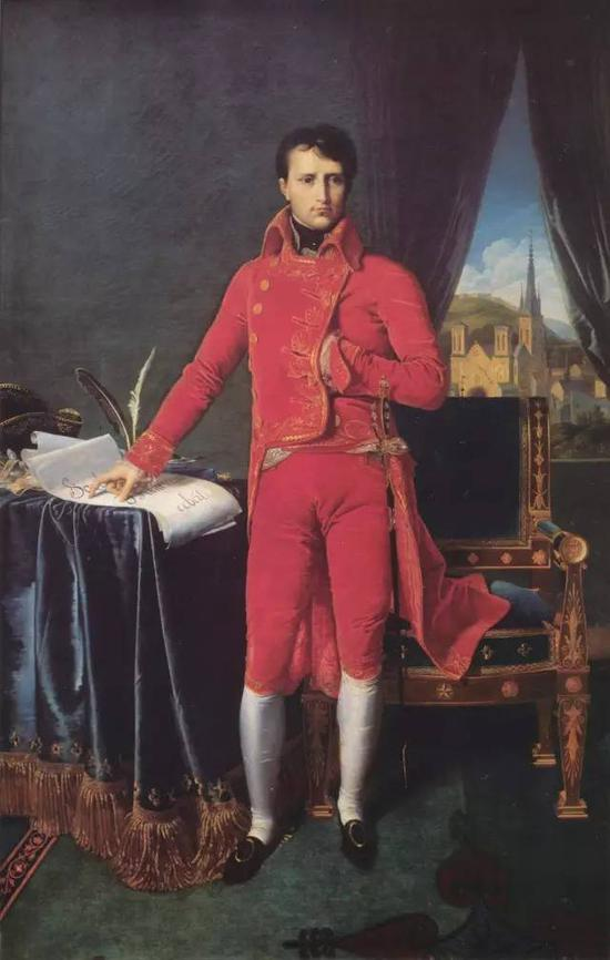 《拿破仑·波拿巴成为第一执政官》,布面油画,147x227cm,1804
